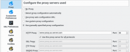 kde network and proxy server settings in system settings dialog