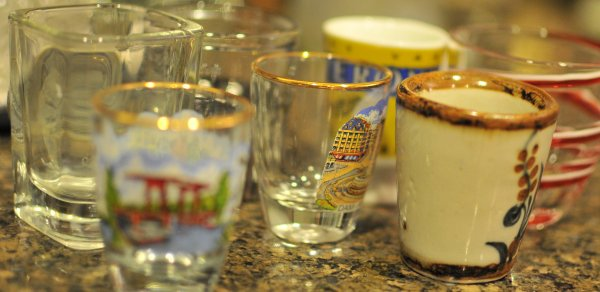 A set of shot glasses