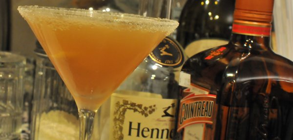 Sidecar Drink with Cognac