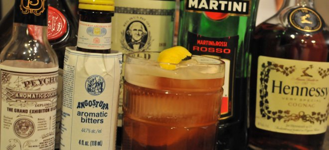 Vieux Carre Cocktail in a rocks glass