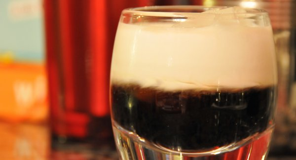 White Russian with Kahlua