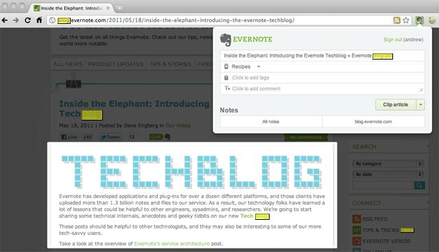 Evernote Web Article Clip