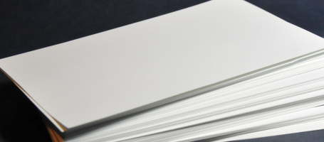 Stack of blank empty card stock