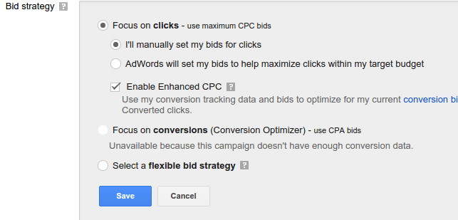 PPC PPM Bids in Adwords