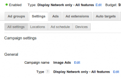 Adwords Display Network Settings