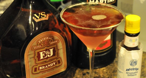 A Brandy Manhattan Cocktail
