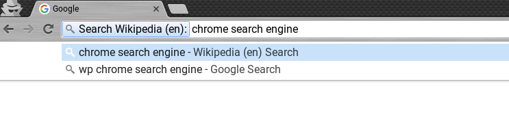 custom search engine in chrome