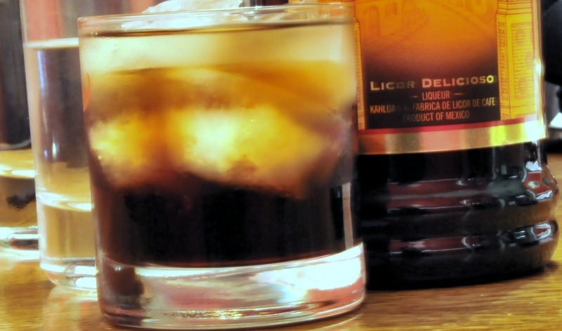 Dirty Black Russian with Kahlua