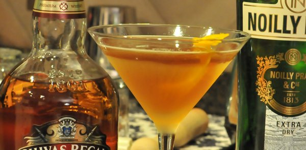 A Dry Rob Roy martini with Whisky and vermouth