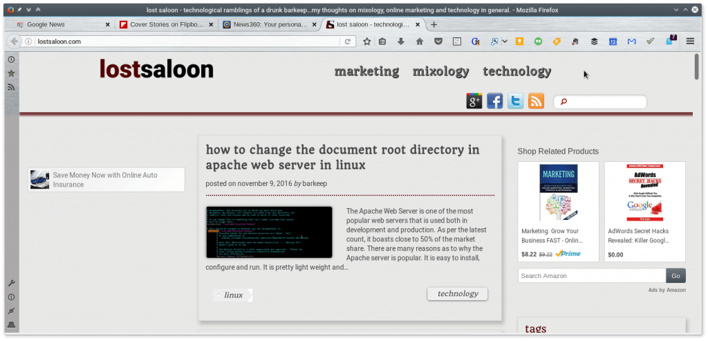 firefox web browser in linux