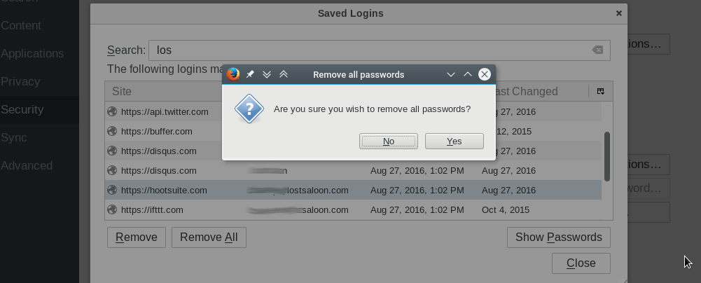 firefox - remove all passwords