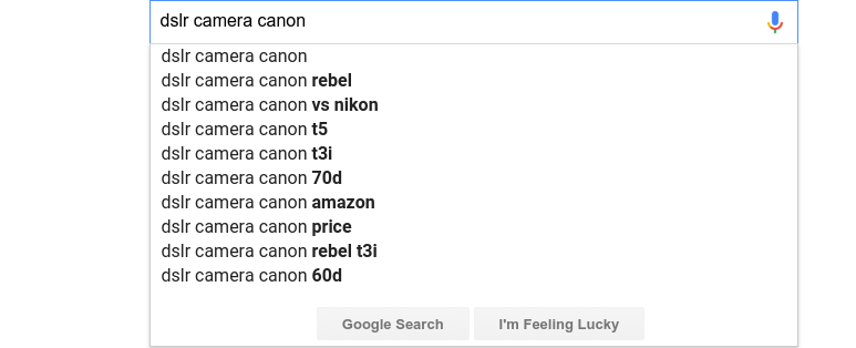 google suggest search queries
