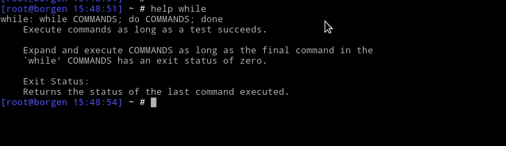 help with while command