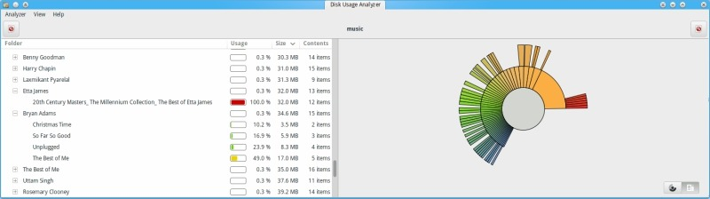 Large Files with Disk Analyzer