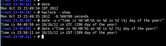 Command to set date and time in Linux