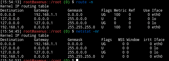gateway ip address in Linux