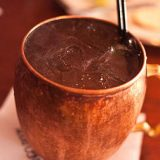 Moscow Mule Cocktail in a Copper Mug