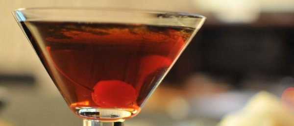 A perfect manhattan with rye whiskey