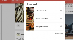 creating a poll in google+