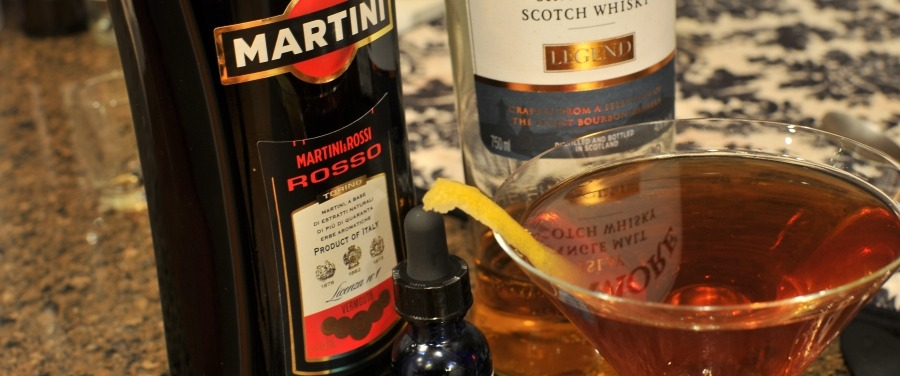 Rob Roy cocktail drink with Scotch Whiskey