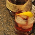 black rose cocktail with bourbon