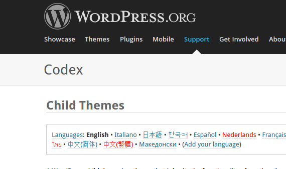 Child Theme in Wordpress