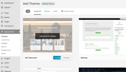 Free Theme Install in Wordpress